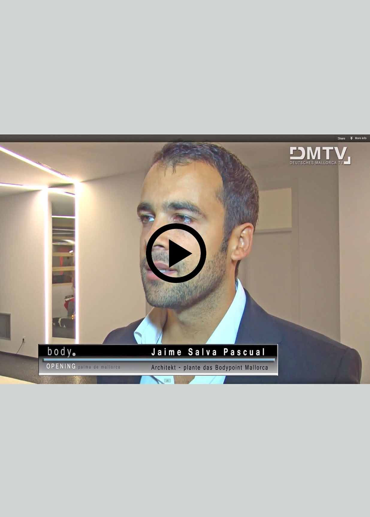 "Video-reportaje en cadena alemana D.M.T.V. Inauguración Proyecto de gimnasio ""Body Point"" by Christian Deerberg"